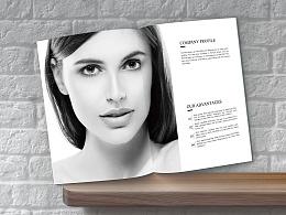化妆品·画册 简约黑白风格