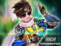 Tracer猎空 起源版 Overwatch 守望先锋