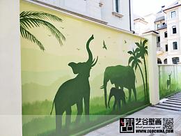 哈尔滨群力溪岸艺墅别墅区外墙彩绘