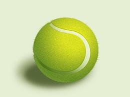 临摹网球一枚