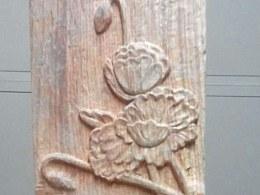 木雕作品牡丹