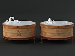 2011大益 《观山》+《听涛》茶艺术包装设计!