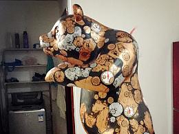 Heart Panda 雕塑绘制步骤图