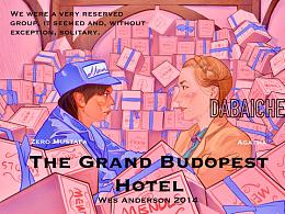 把电影画成插画之《布达佩斯大饭店》