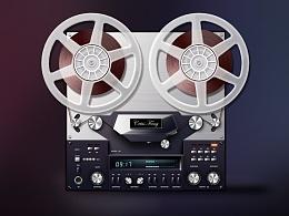 临摹 拟物化 录音机