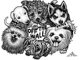 为vans绘制的狗狗图