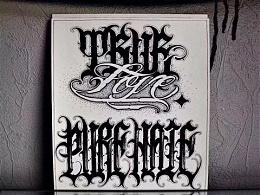 欧美西海岸花体字掩饰不住的匪帮气息.纹身多种多样有