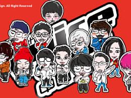 2013中国好声音学员原创Q版~能看出来他们都是谁吗?!