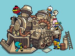 鸭嘴兽男孩壁纸-蒸汽朋克系列(一)