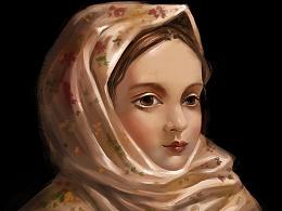 扎围巾的女孩 mo'xie