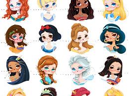迪士尼公主16位~