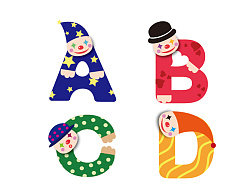 小丑26个字母设计