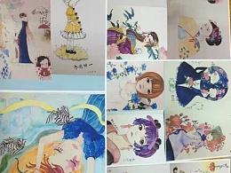 以前的一些画。部分临摹