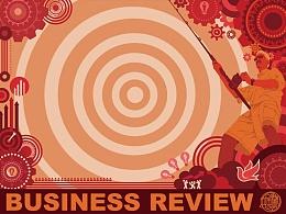 《 BUSINESS REVIWEW 》杂志插图设计