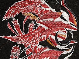 """""""纳加西拉"""" 黎族图腾+涂鸦艺术---阳鸟衔食"""