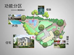 面朝野花山坡的庭院景观设计
