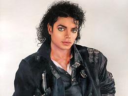 彩铅画迈克尔杰克逊