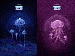 杜蕾斯包装设计-夜光蘑菇/温情水母(纪念装)