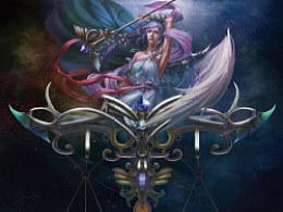 DM添-绘画作品-星座系列之天秤座
