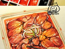 手绘美食——水煮牛肉