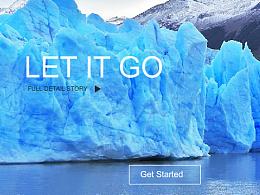 冰雪奇缘网页设计