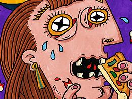 恶搞毕加索经典作品《哭泣的女人》
