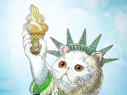 《自由女肥猫》,盛夏冰淇淋派送员~^_^!
