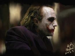 《蝙蝠侠黑暗骑士》小丑一张~