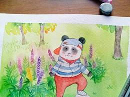 可爱的熊猫
