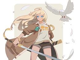 带鸽子的女剑客