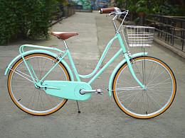 永久c颐和薄荷绿复古自行车