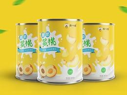 酸奶黄桃罐头包装