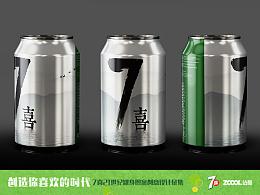 中国风七喜罐身设计