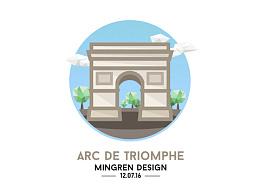 Day8- 每日設計 Arc de Triomphe Design