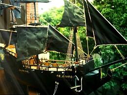黑珍珠号动态帆船模型