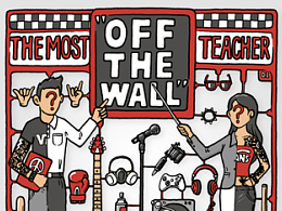 "VANS-THE MOST ""OFF THE WALL"" TEACHER Poster 2013"