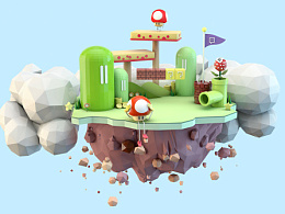Super Mario - C4D