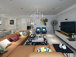 杭州市东方福邸 四居室设计 法式+北欧简约