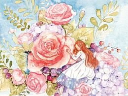 玫瑰与小花
