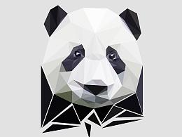 随便做做~几何大熊猫·低多边形·low poly