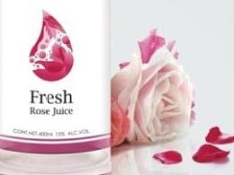 玫瑰纯水包装提案