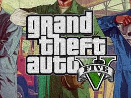 最近超喜欢玩GTA5就以GTA5的风格为原型做了几款海报!!