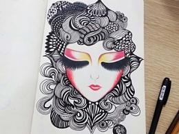 我的线描涂鸦本