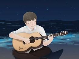 弹吉他的你