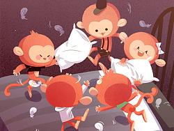 绘本Five Little Monkeys