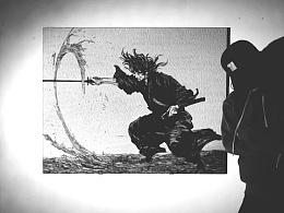 【宫本武藏·浪客行】定制手工雕刻黑白木刻版画
