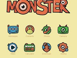 小怪兽主题手机系统图标