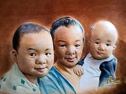 孟璐璐手工皮雕工作室出品 --人物肖像定制手包
