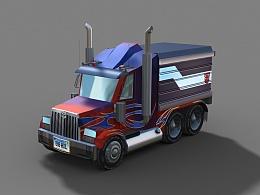 手绘Q版卡车