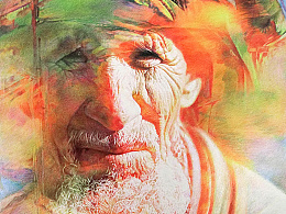 彩铅的魅力 —《新疆老人》